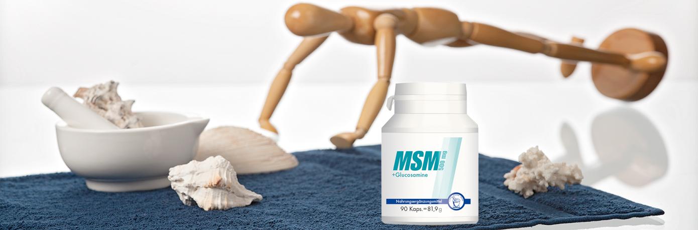 MSM 500mg + Glucosamine Kapseln